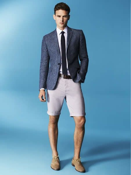 Blazers, a tie and shorts--oh my!  House Of Fraser Spring/Summer 2014