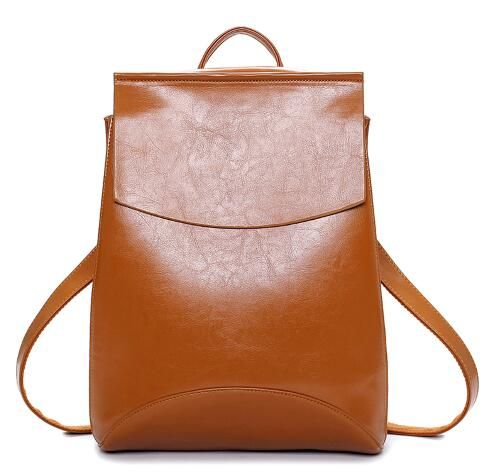 Teenage Girls School Bags Vintage Backpack Mochilas Mujer - Brown Oh just take a look at this! Visit us