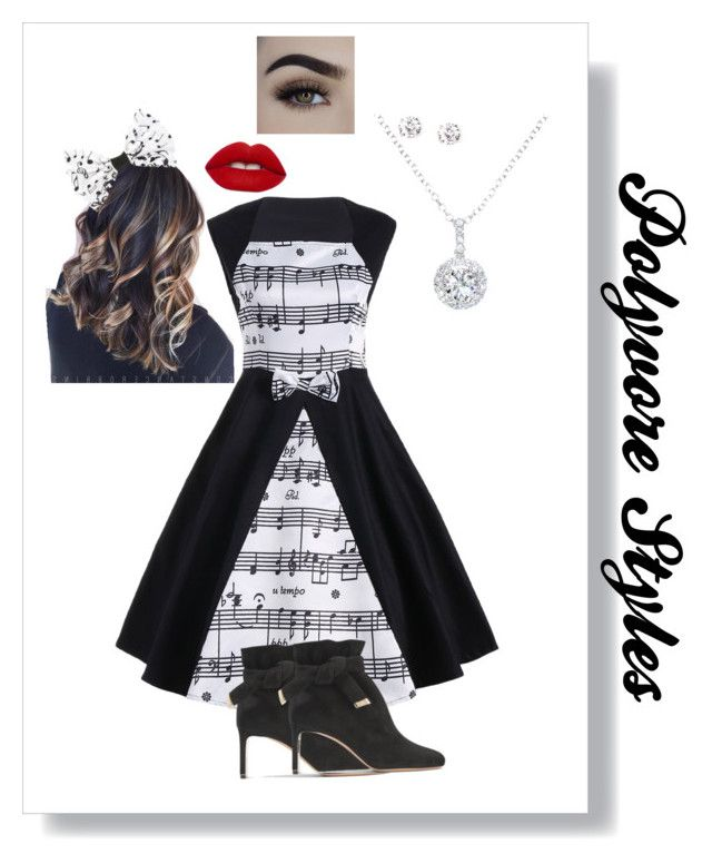 """""""Music style outfit"""" by russell-mina on Polyvore featuring Nicholas Kirkwood, EWA and Lime Crime"""