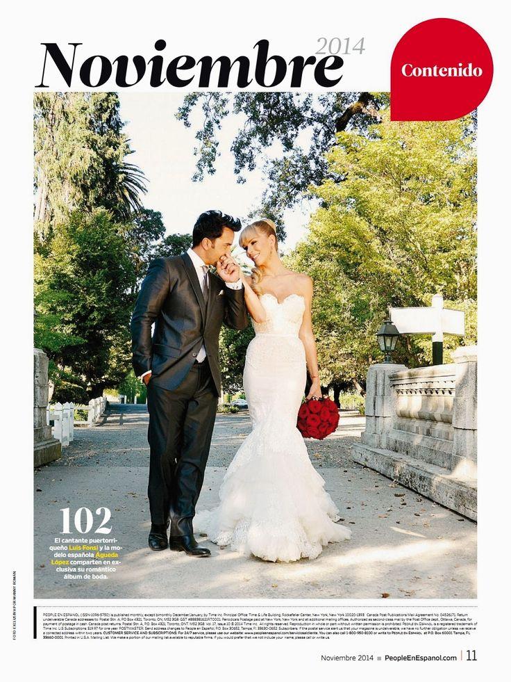 El cantante puertorriqueño Luis Fonsi y la modelo española Águeda López comparten en exclusiva su romántico álbum de boda.
