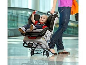 The Britax Car Seat Travel Cart is a convenient alternative when traveling through airports with your car seat and child in tow.