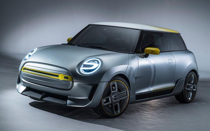 Télécharger fonds d'écran Mini Cooper Électrique Concept, en 2017, les voitures, les voitures compactes, Mini Cooper