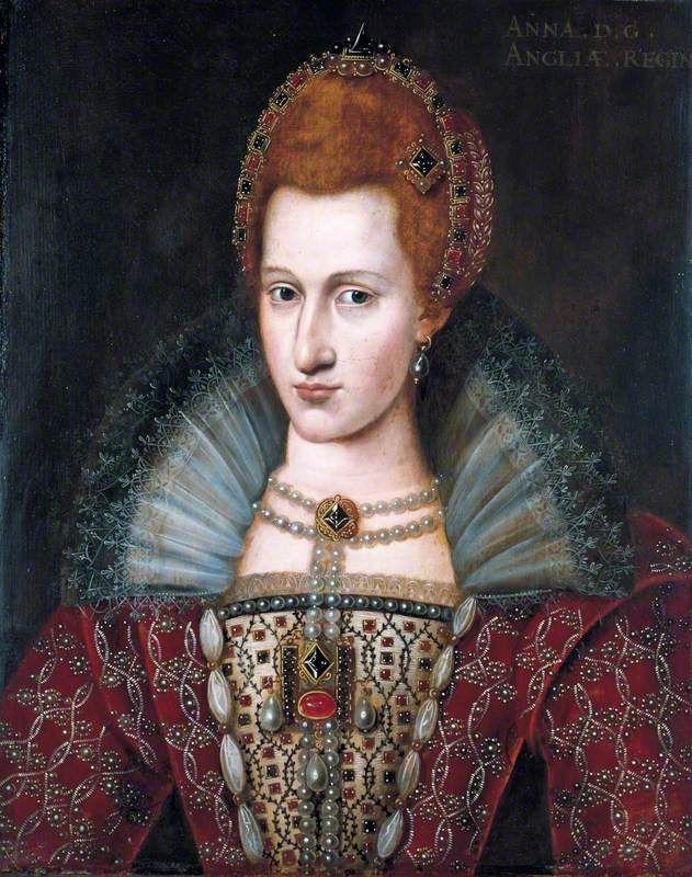 John De Critz the Elder. Anne of Denmark, Queen Consort of James I, 1603. Colchester & Ipswich Museum Service.