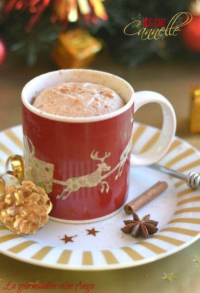 Mug cake cannelle et épices Noël