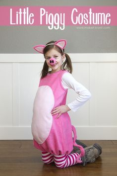 A DIY Little Pig Costume (with ears and snout) --- Make It and Love It