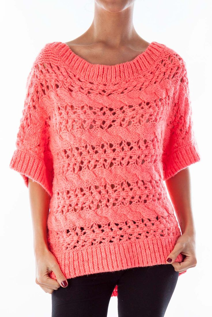 Preppy sweaters for all seasons hot pink short sleeve sweater by Juicy Couture #silkroll