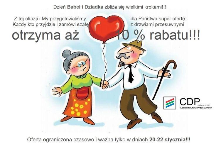 Super rabat z okazji Dnia Babci i Dziadka!!! Zapraszamy do naszych salonów: http://e-cdp.pl/ekspozycje.html
