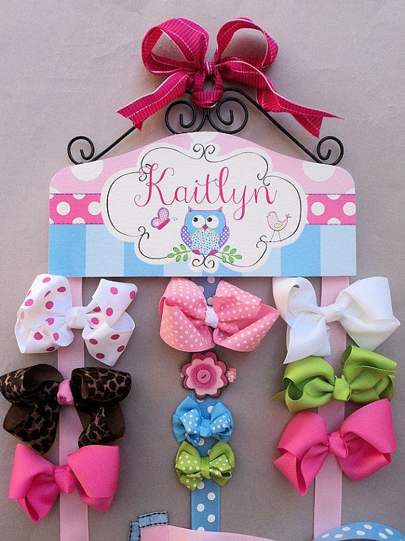 HAIR BOW HOLDER Personalized Owl HairBow by HairBowHolders