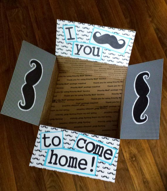 Deployment Care Package Decorating Kit- I moustache you to come home