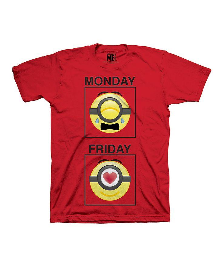 Despicable Me 'Monday Friday' Crewneck Tee - Boys