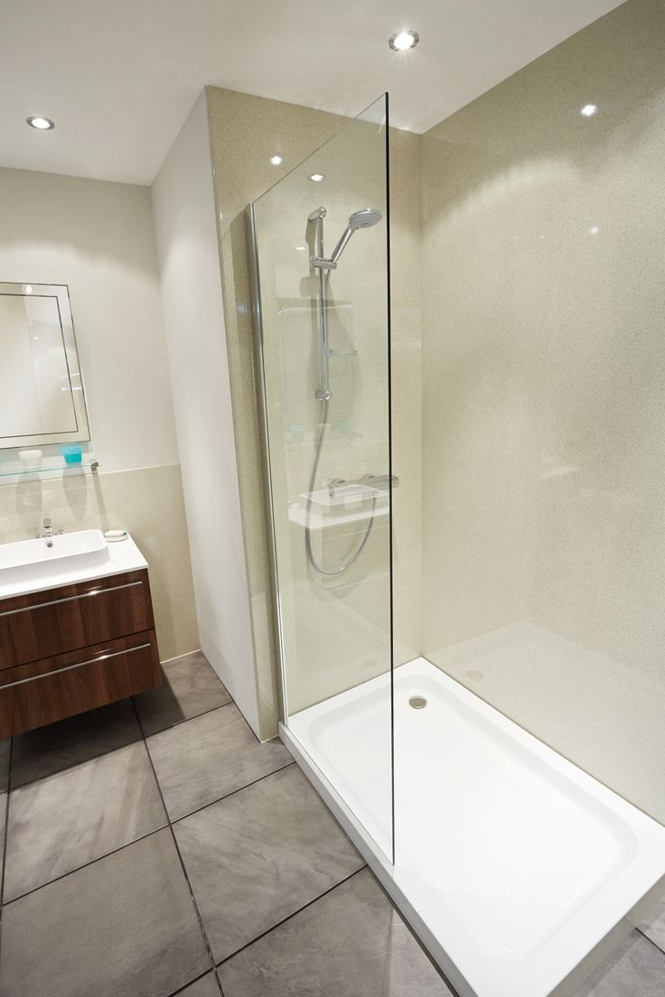 Glass wall panels bathroom - Nuance Laminate Panelling Is An Ideal Alternative To Tiling There Are No Grout Lines To Bathroom Wall