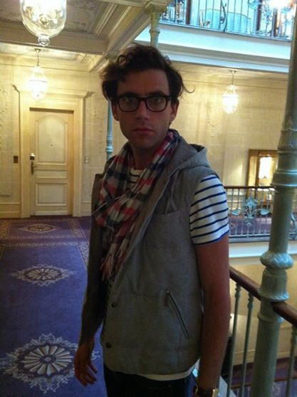 """Mika in glasses - 2011 - from the """"Mika Backstage"""" album on Mika's Facebook page"""
