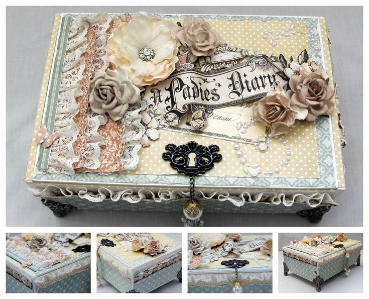 Altered cigar box. A Ladies Diary - Scrapbook.com