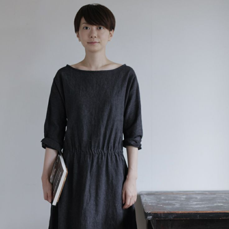 shop fog linen — Eden Dress: Black Chambray