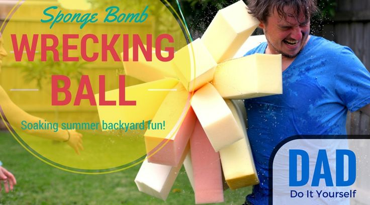 You've seen mums make little sponge water bombs but it's time to see what a dad does... Sponge Bomb Wrecking Ball!