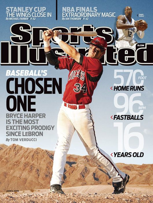 Bryce Harper from 2009. You've got to be amazing to be on the cover of Sports Illustrated at 16<3