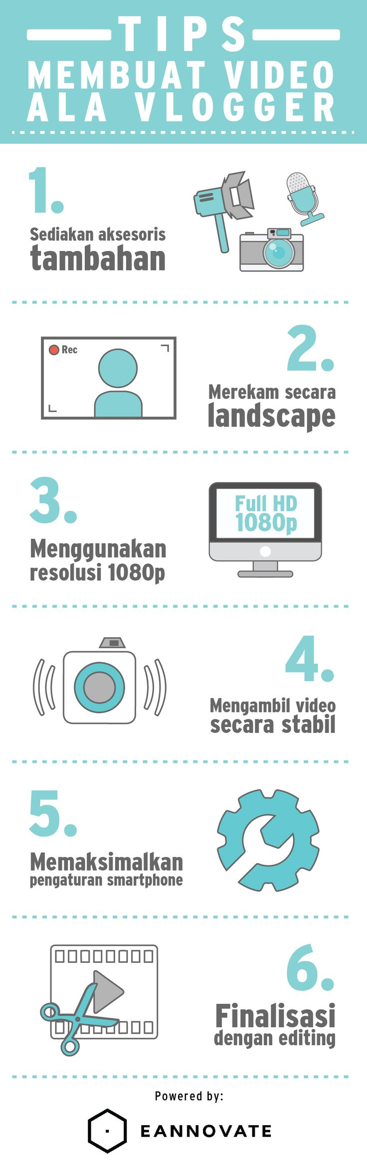 Tips Membuat Video ala Vlogger/ Youtuber Menggunakan Smartphone (Infographic)