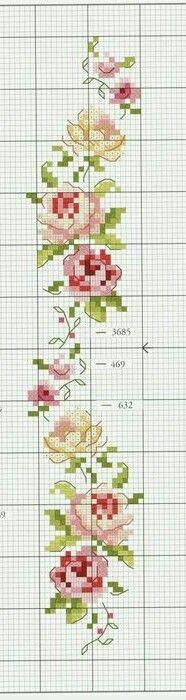 Véronique Enginger ''Mode d hier et d aujourd hui au point de croix'' Flower border