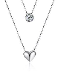 5dcb4ad26350 Gargantilla corazón plata - Collar original colgante corazón ...
