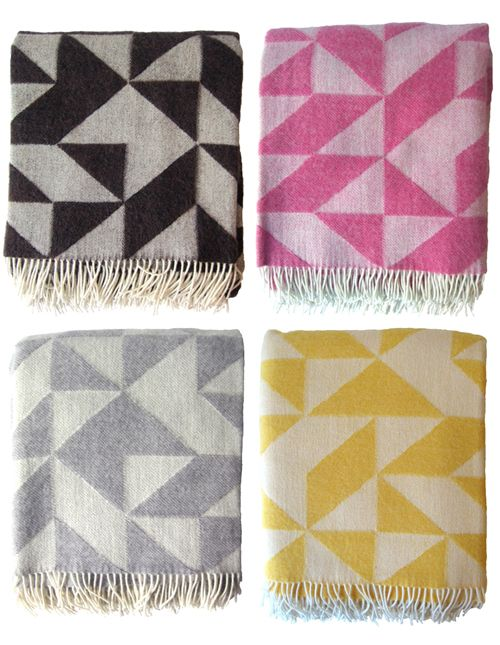 These 'Twist A Twill' blankets by Danish designer, Tina Ratzer, are fantastic! I'd love to have a few in the living room for rainy fall and winter days. Ten colors! Images courtesy of Tina Ratzer. ...