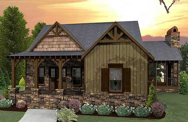 If you like the front of Architectural Designs Rustic House Plan 92323MX (just over 1,700 sq. ft. on main and lower level combined) you'll have to see the back...
