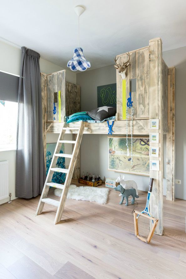 1169 best images about kids 39 rooms bunk beds built ins for Boys loft bedroom ideas