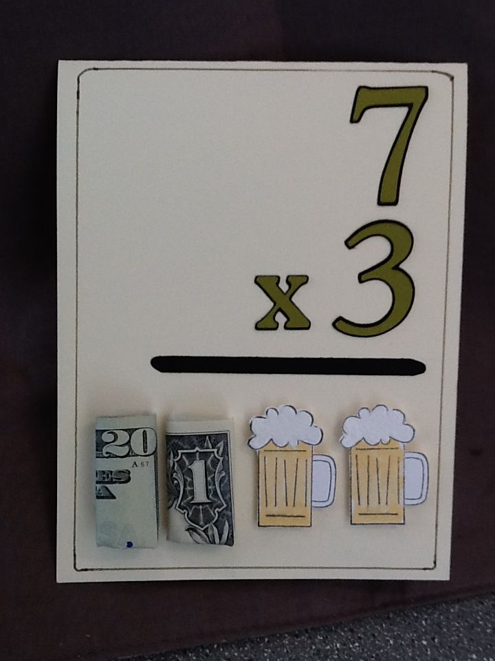 "Birthday card for my sons friend turning 21 who is good in Math...cricut Plantin Schoolbook & Stampin Up ""Cheers To You"""