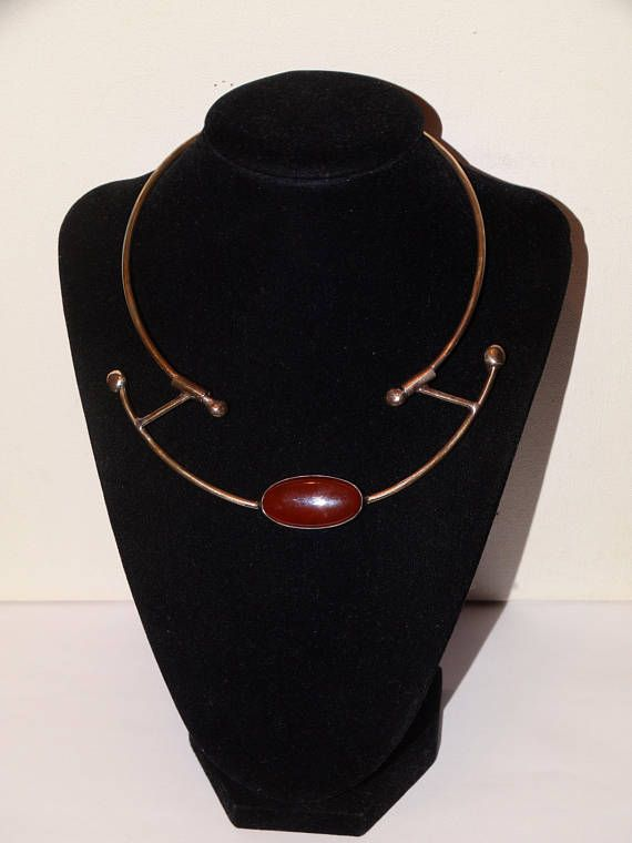 Alain Teissier SignedSterling ABSTRACT Lge Carnelian Stone