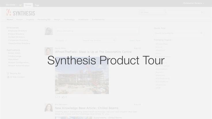 The 8 best project management images on pinterest project synthesis is knowledge architectures social intranet for architects and engineers it integrates natively with common aec applications like deltek vision fandeluxe Choice Image