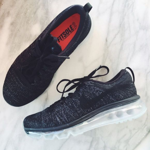 Nike Flyknit Air Max Sneakers •Featuring a hybrid of two of Nike's best sneaker technologies, the Women's Nike Flyknit Air Max Running Sneakers take performance and style to the next level.   •Women's size 6, true to size.  •New in box (no lid). NO TRADES/PAYPAL. Nike Shoes Athletic Shoes