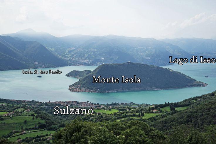 Ponte Galleggiante sul Lago di Iseo tra Sulzano Monte Isola e San Paolo