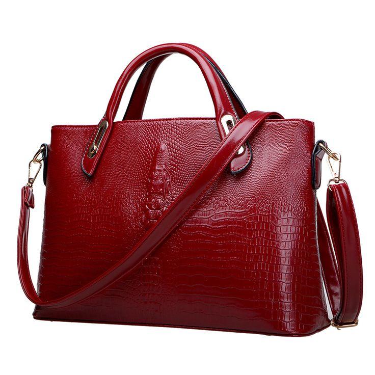 Fashion Handbags Crocodile Pattern Handbag Large Shoulder Bag Diagonal Bag //Price: $34.26 & FREE Shipping //     #womenhandbags