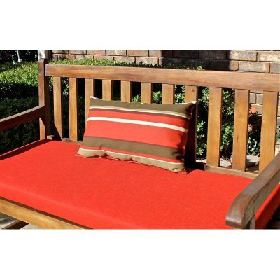 Blazing Needles 20 x 12 in. Outdoor Throw Pillows - Set of 2 Kingsley Stripe Ruby - 9911-S2-REO-17, Durable