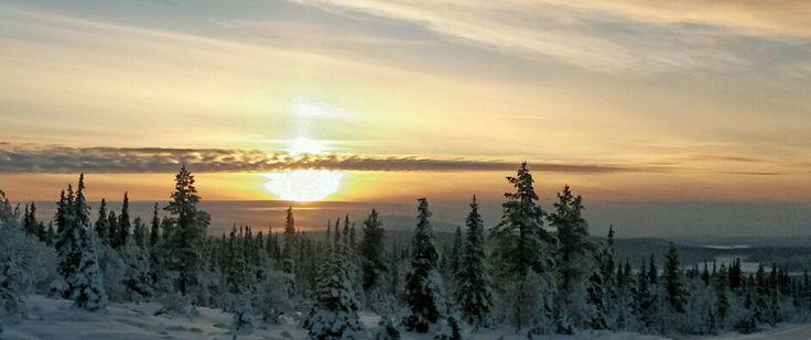 Sunrise in Pallas, Finnish Lapland