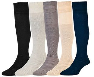 expert verdict soft top compression socks navy size m 6