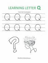 Letter Q Activities Kidzone Educational Worksheets Preschool Letter Tracing Worksheets For Writing Practice