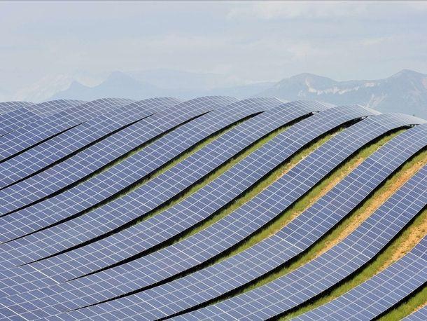 Huge Solar Photovoltaic Farm in France  #agriculture #huge #solar #photovoltaic #farm #france #photography