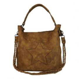 Bag in Bag tas met ster Camel