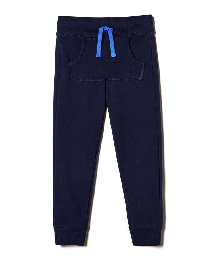 Pantalón de felpa con cordón de ajuste, Azul Oscuro - Descubre la nueva colección y haz tus compras en la web benetton.com. Envíos gratuitos con más de 50 €.