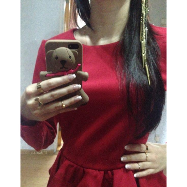 #nails #nail #fashion #style  #cute #beauty #beautiful  #pretty #girl #girls #stylish #sparkles #styles #gliter #nailart #art #opi  #essie  #love #shiny #polish #nailpolish #me #red #rings #hair