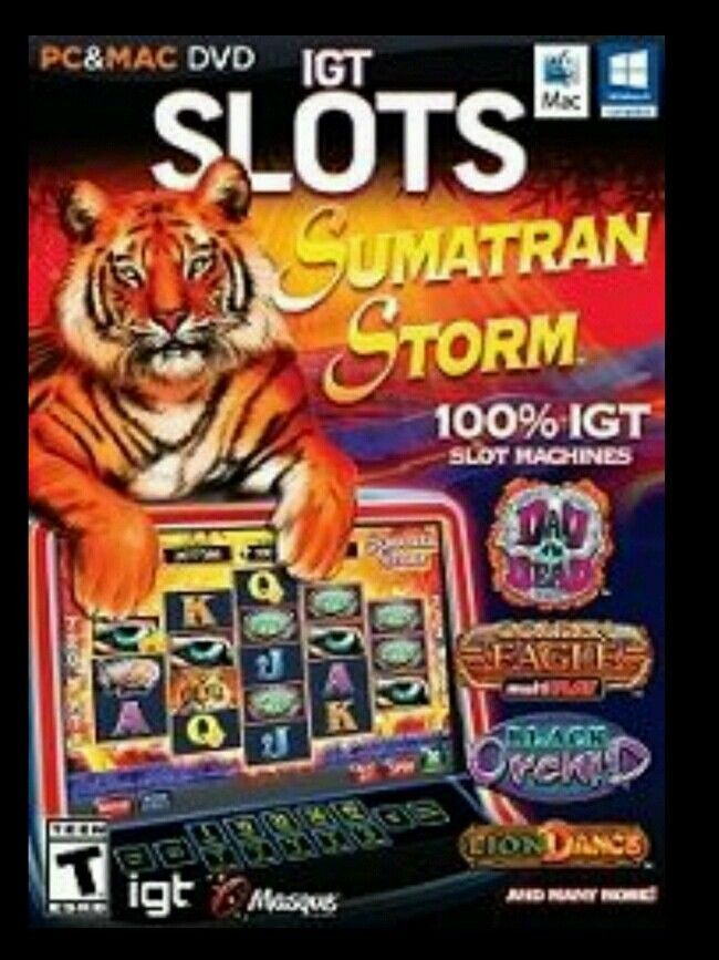 NEW & Sealed IGT Slots Games: Sumatran Storm 15 Real Casino Slots Laptop PC CD #EncoreIGT