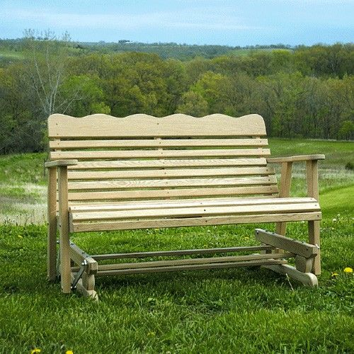 Amish Outdoor Furniture Colonial Outdoor Glider For Sale
