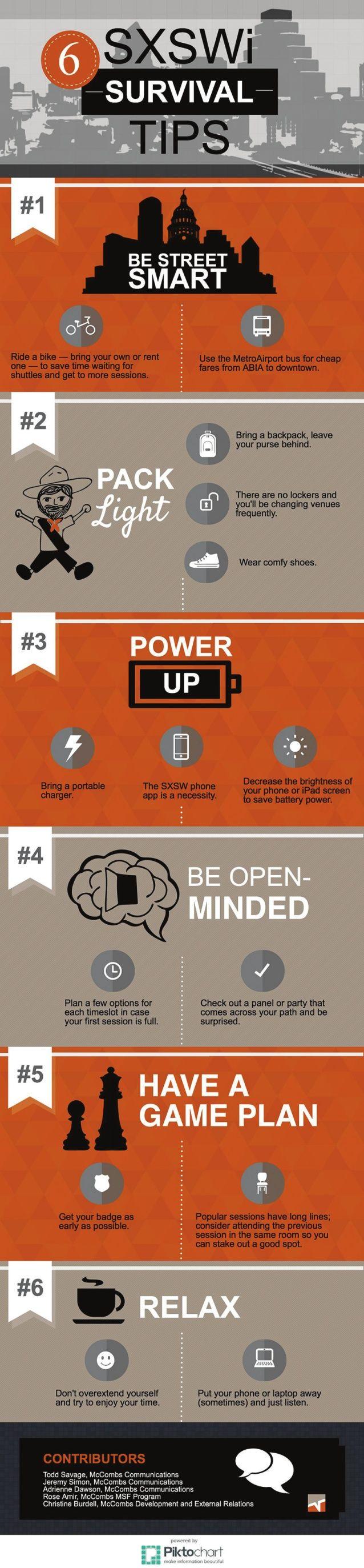 How to Survive SXSW Interactive (Infographic)