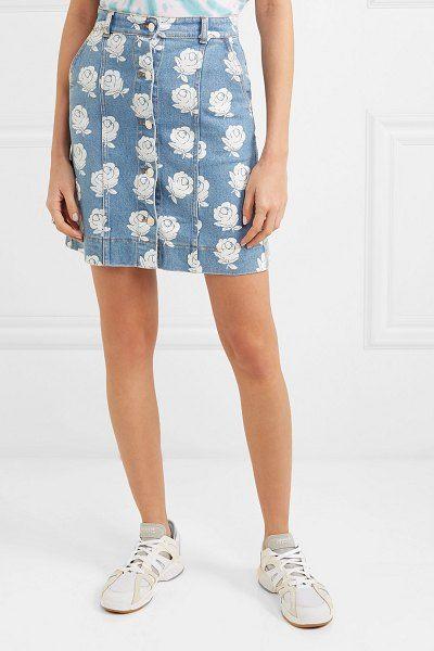 11a1ac4b44 Kenzo Floral-Print Denim Mini Skirt in 2019 | Denim | Printed denim ...