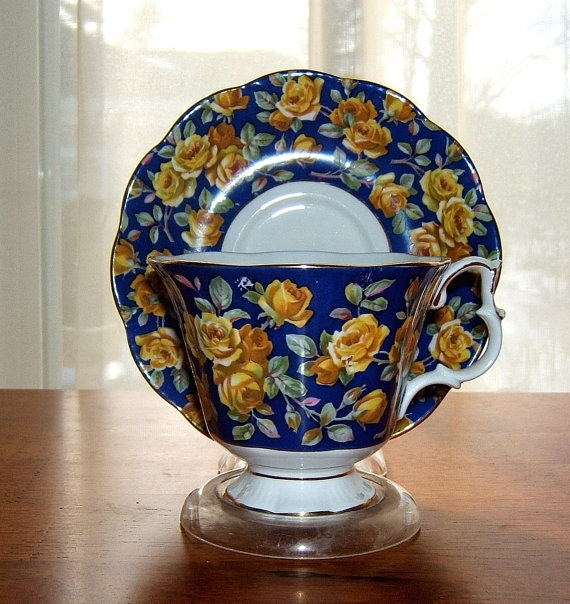 Vintage Royal Albert  Bone China Cobalt  by NOVASCOTIATREASURES, $35.00