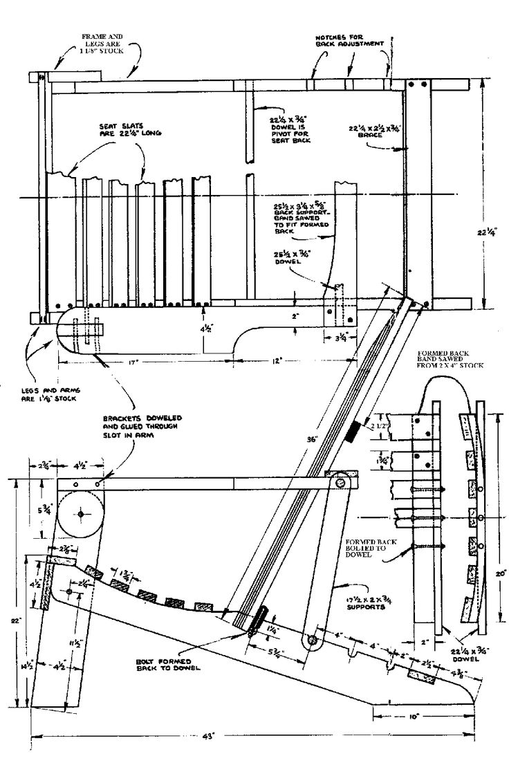 drawing furniture plans. plans drawing throughout inspiration adirondack chair furniture n