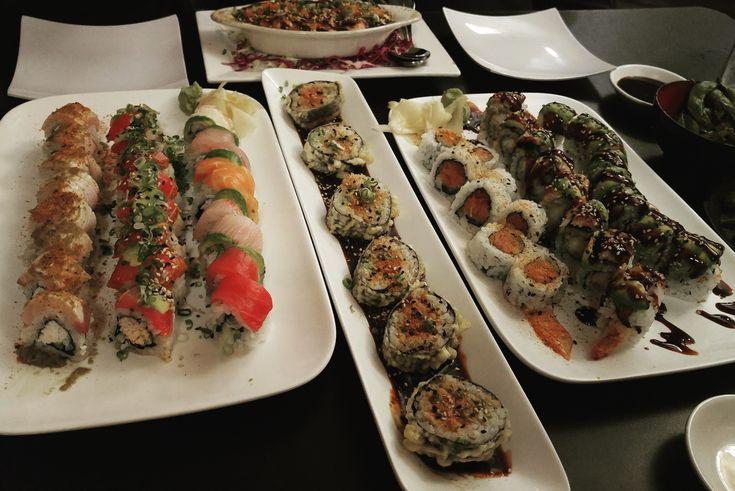 [I ate] Sushi prepared by a female sushi chef at Ebisu Sushi in San Diego
