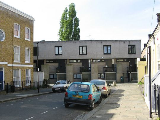 Neave Brown, architect, 1964     Terraced houses at Winscombe Street, N19 London   