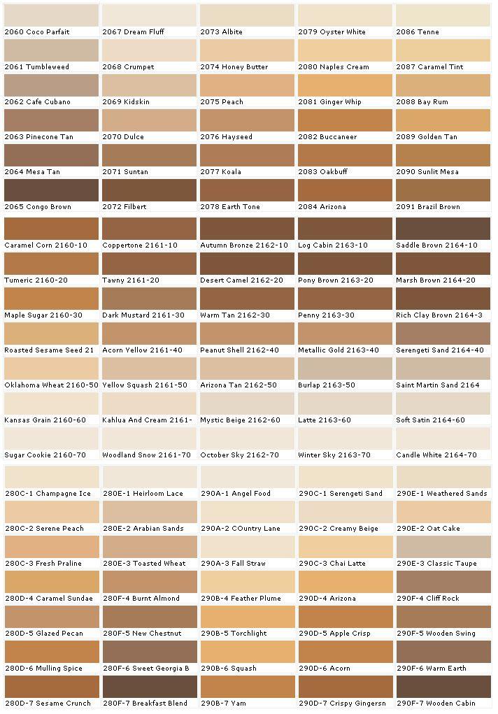 skin color char...