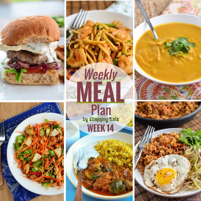 Slimming Eats Weekly Meal Plan – Week 14
